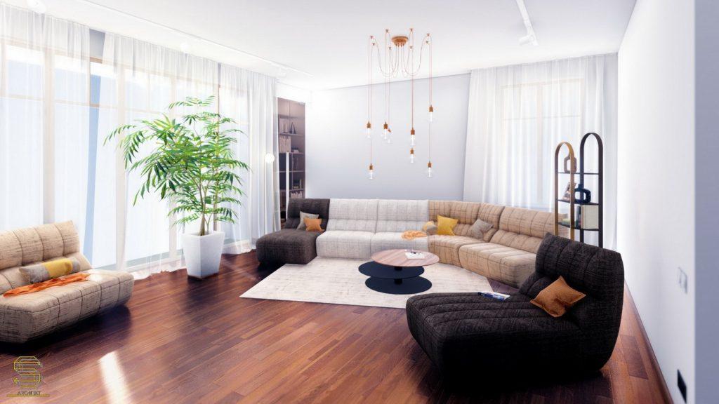 Дом на 300 кв.м. Гостиная