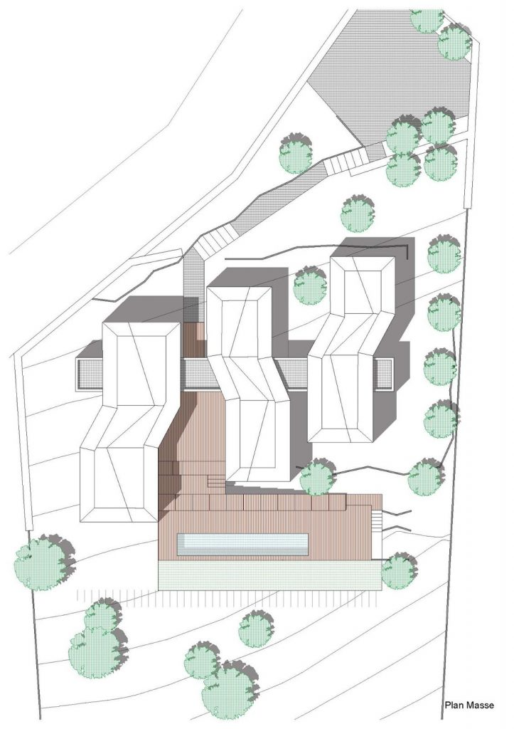 Современный дом во франции N+B Architectes